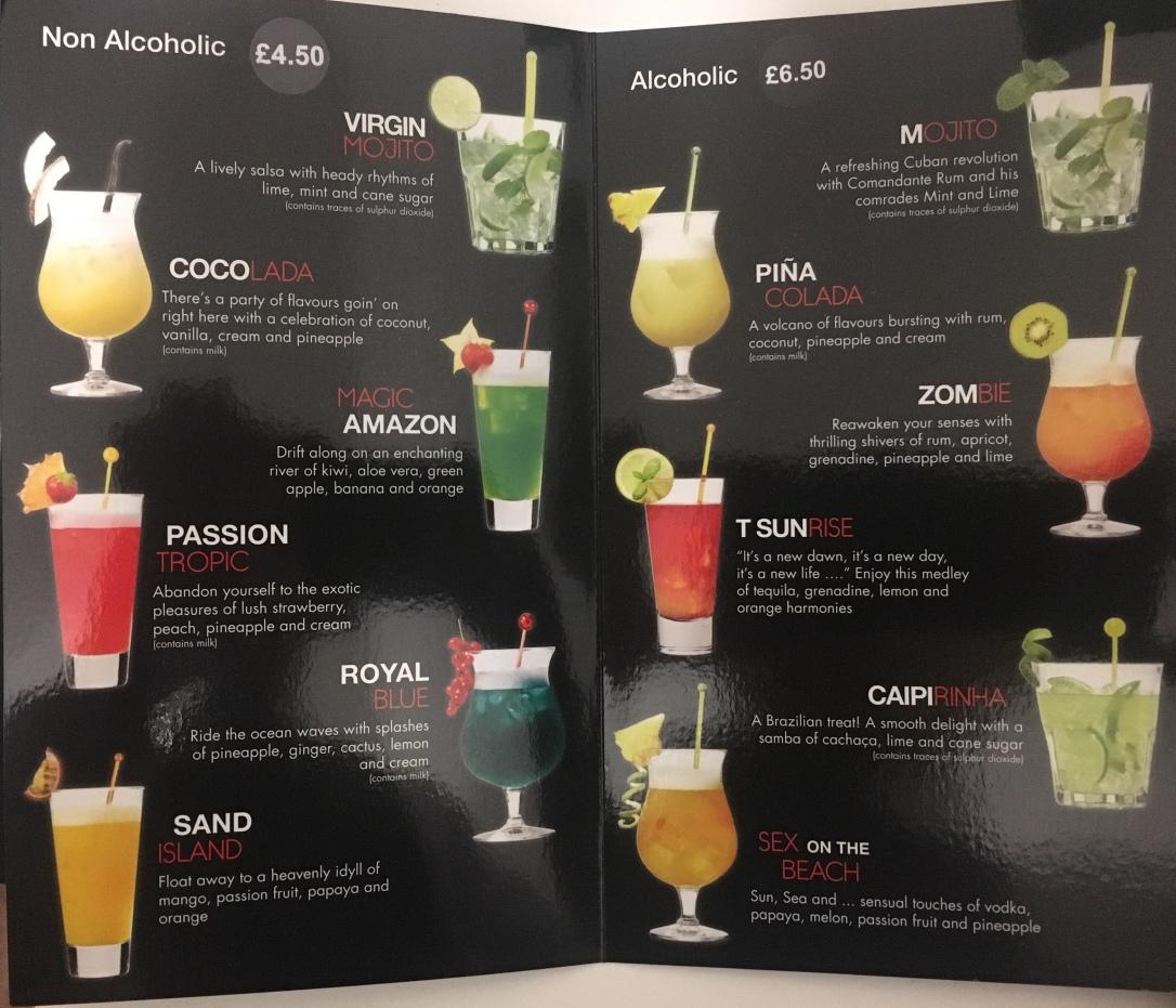 Cocktail/Mocktail Menu
